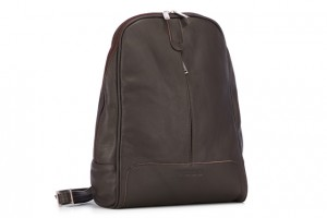 Leather backpack chocolate Cat EP16