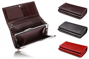 Elegant women's leather wallet PPD 3