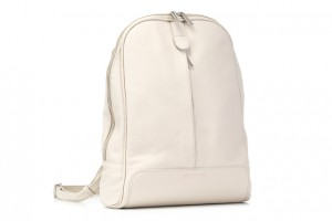 Leather backpack Cream Cat EP16