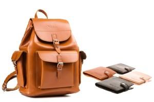 90e9b4bf03591 PROMO SET Duży plecak skórzany Vintage P40 + Portfel z naturalnej skóry  juchtowej Vintage P21