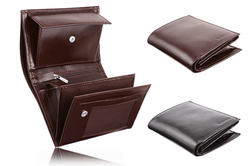 Leather men's wallet PPM 4