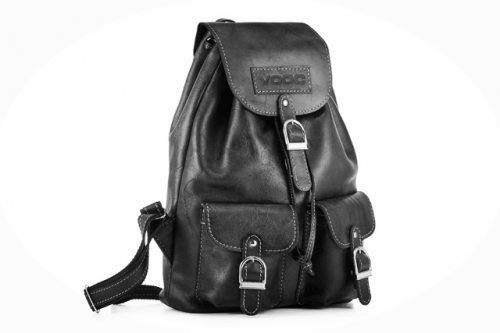 Retro leather backpack TC13 Black