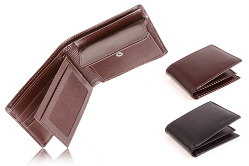 Leather men's wallet PPM6