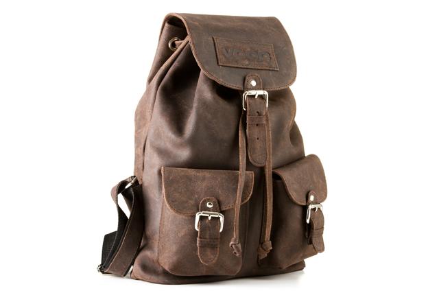 2a4a9344db700 Młodzieżowy skórzany plecak A4 na klamrę dużo kieszeni VOOC URBAN RDW 06 ...