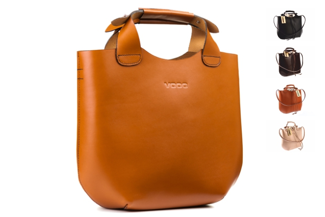 6d849b4bf1770 Oryginalna torba skórzana shopper bag worek torebka damska na ramię do ręki  VOOC Vintage P6.